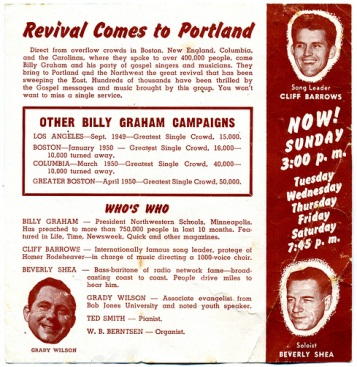 billy graham crusade. Billy Graham Crusade: Portland